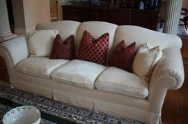 Sofa and Accent Pillows