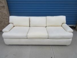 White fabric comfy couch