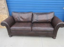 Brown fine leather couch