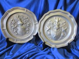 Vintage Pewter cultural wall decor