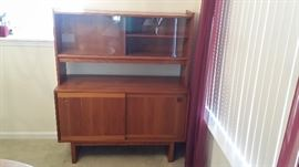 Danish Teak Sideboard Buffet and Hutch