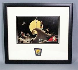 "Disney Tim Burton ""The Nightmare Before Christmas Pin Set"", Framed with COA, 18""W x 16""H"