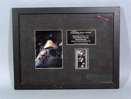 "Tim Burton Nightmare Before Christmas Limited Edition Voice of the Mayor Glenn Shadix Signed Movie Art Plaque, LE of 3500, Framed, 17.5"" x 13.5"""