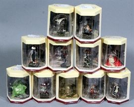 Disney Tim Burton Nightmare Before Christmas 1993 Tiny Kingdom Complete Set of 11, New in Boxes