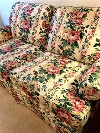 I LOVE this Floral love Seat...I Think It Would Be Adorbs In A Bedroom Too!...