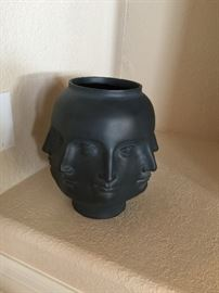 Planter head, cast from clay