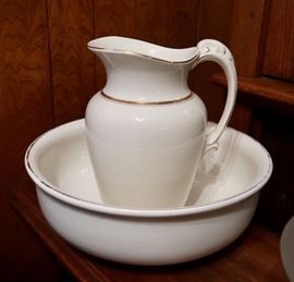 Antique Pitcher & Bowl Set