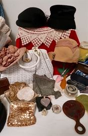 Pretty Victorian Purses, Hats & Dressing Table Items