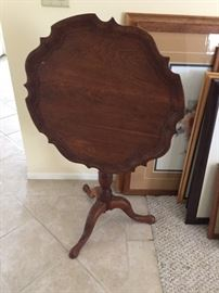Drop side table. Antique