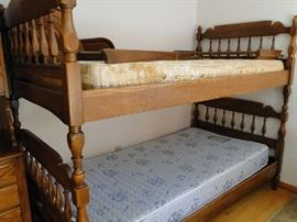 Bunk Beds with ladder and side rails