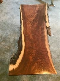 Reclaimed Coffee Table Highly Figured Black Walnut Live Edge  $875 + S/H available