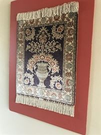Silk Moroccan prayer rug