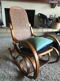 Bent wood rocker - mid century log holder