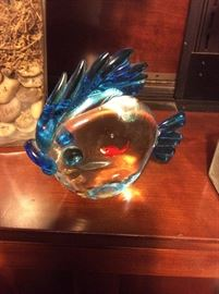 Murano blown glass fish