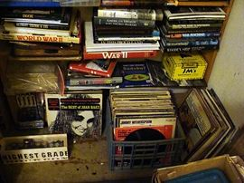 Part of a huge selection of LP records...mostly rock and roll.