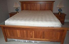 King Size Bed w/ Tyndall Pedic Mattress