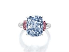 FANCY BLUE DIAMOND RING