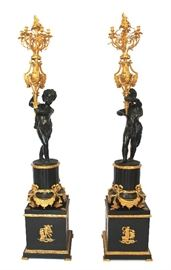 BRONZE GILTED CHERUBS