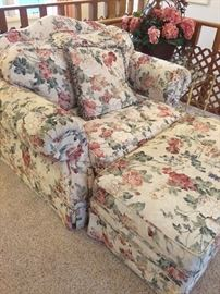 Large chair and ottoman, matching sofa