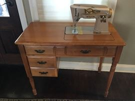 Maple cabinet, Singer sewing machine