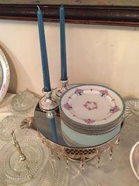 Minton desert plates, sterling