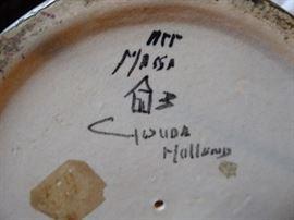 Vintage Gouda Holland ceramic candlestick mark