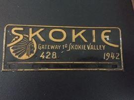 Skokie 1942 License Plate