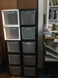 lots of stacking file boxes