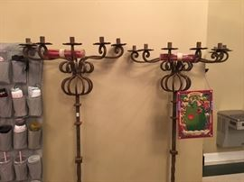 6 foot Iron Candelabras