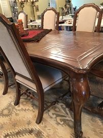 Lutrell Dining Room Table with 6 Side Chairs and 2 End Chairs