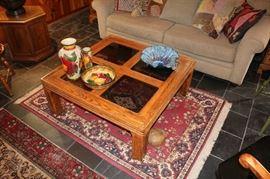 Oak & Glass Coffee Table