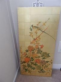 Asian themed art...bird and flowers