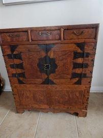 Small handmade primitive Korean chest. TANSU