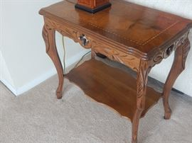 One of many accent tables found in this lovely home.