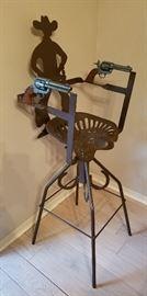 cowboy, western gun chair