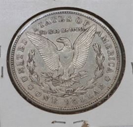 1921 D Morgan Silver Dollar AU