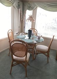 Bamboo Dining Set/4 Chairs