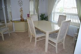 Dining room table and matching console