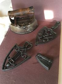 Antique Iron, Childrens Iron, Trivets