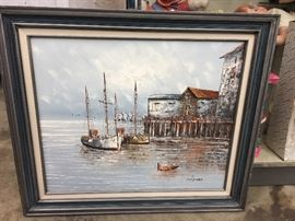 Boat/shipyard painting