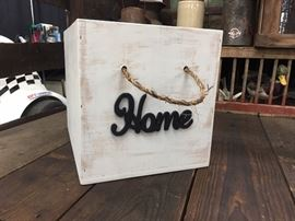 Home wooden storage box
