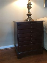 6 drawer jewelry cabinet