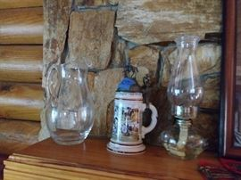Oil Lamp, Beer Stein