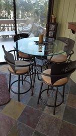 Die Cut High Top Table & Chairs
