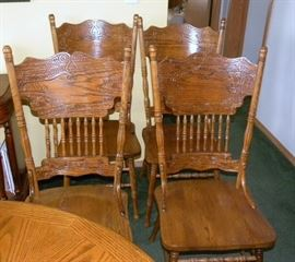 Oak Pressback Chairs