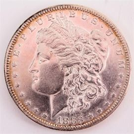 Lot 144 - Coin 1883-S Morgan Silver Dollar AU