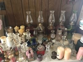 Oil Lamps and Candles