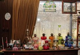 Oil lamps & candles
