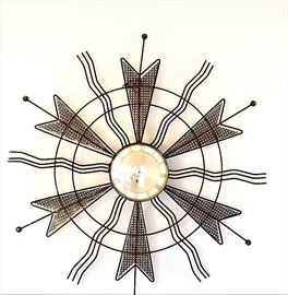 Mid Century GERMAN Atomic Starburst Wall Clock