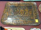 Large Copper Arts  Crafts Tray